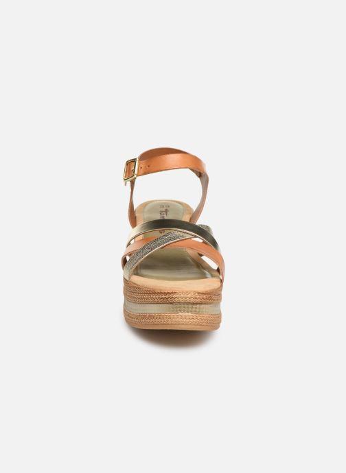 Sandals Tamaris Abily Brown model view