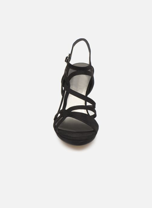 Agel Tamaris Et pieds noir Sandales Chez Nu P66qd8w