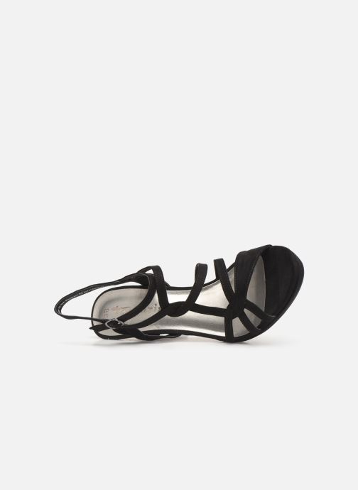 Sandals Tamaris Agel Black view from the left