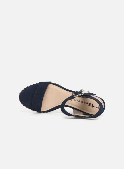 Sandales et nu-pieds Tamaris Aila Bleu vue gauche