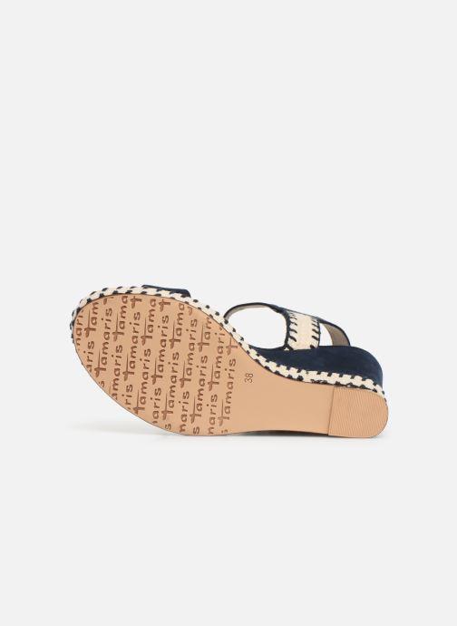 Sandales et nu-pieds Tamaris Aila Bleu vue haut