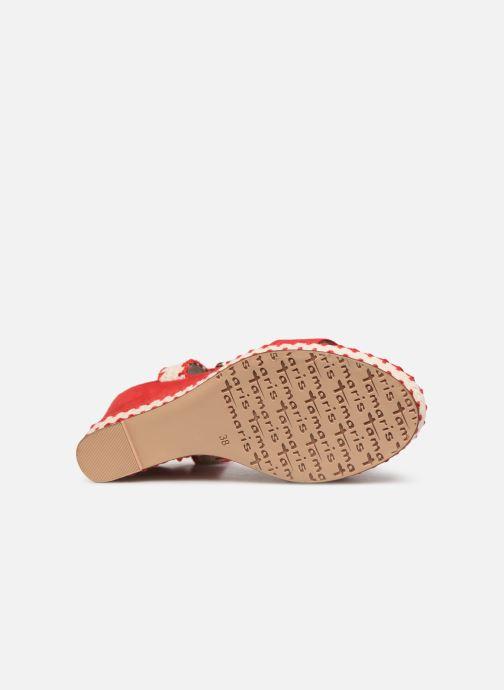 Sandales et nu-pieds Tamaris Aila Rouge vue haut
