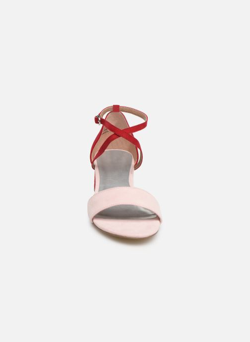 Sandales et nu-pieds Tamaris Tapioca Rose vue portées chaussures