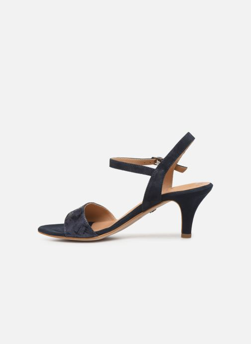 Sandales et nu-pieds Tamaris Papaye Bleu vue face