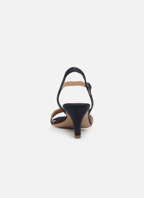 Sandales et nu-pieds Tamaris Papaye Bleu vue droite