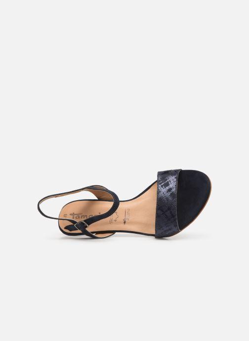 Sandales et nu-pieds Tamaris Papaye Bleu vue gauche