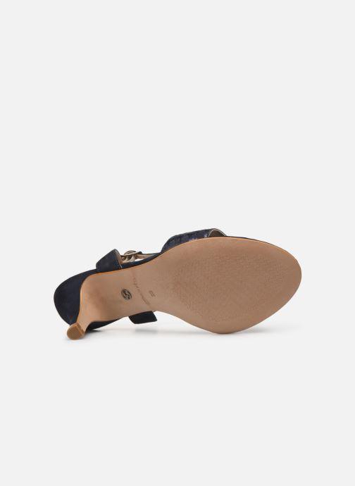 Sandales et nu-pieds Tamaris Papaye Bleu vue haut