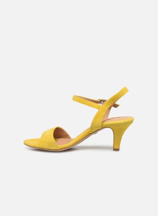 Sandales et nu-pieds Tamaris Papaye Jaune vue face