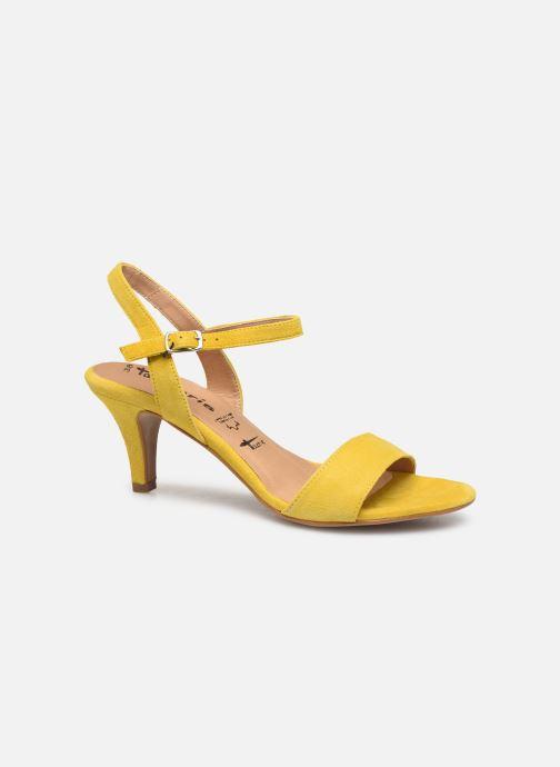 Sandales et nu-pieds Tamaris Papaye Jaune vue derrière