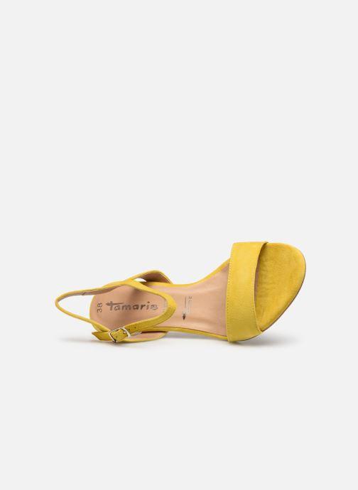 Sandalen Tamaris Papaye gelb ansicht von links