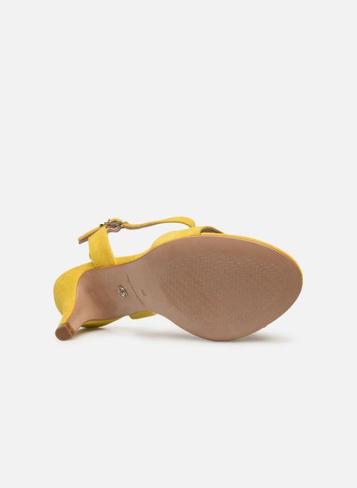 Sandalen Tamaris Papaye gelb ansicht von oben