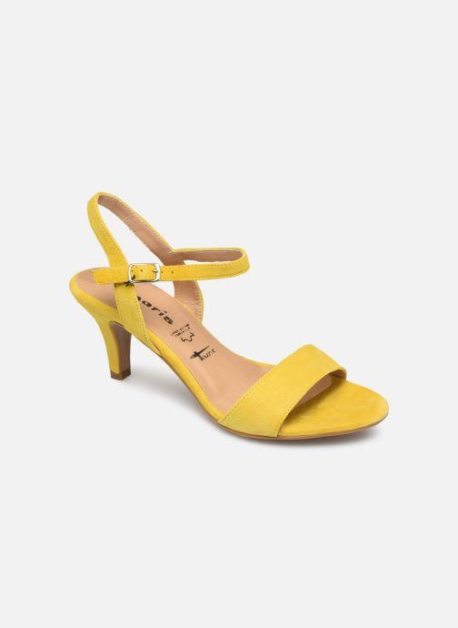 Sandales et nu-pieds Tamaris Papaye Jaune vue détail/paire