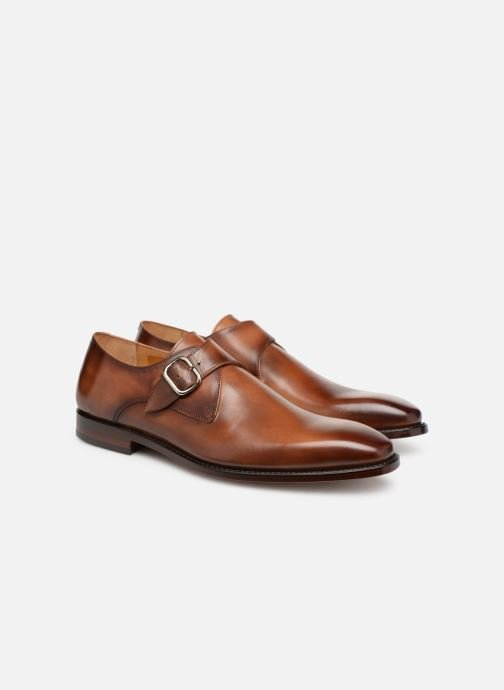 Mocassins Marvin&Co Luxe Caring - Cousu Goodyear Marron vue 3/4