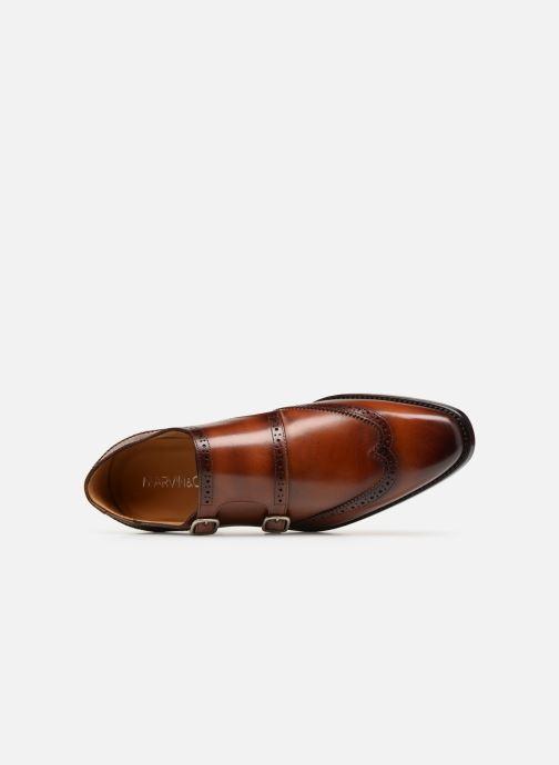 Zapato con hebilla Marvin&Co Luxe Caringle - Cousu Goodyear Marrón vista lateral izquierda