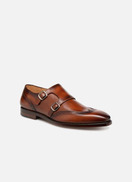 Chaussure à boucle Marvin&Co Luxe Caringle - Cousu Goodyear Marron vue détail/paire
