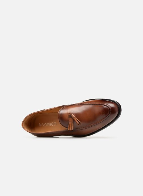 Loafers Marvin&Co Luxe Casselini - Cousu Goodyear Brown view from the left