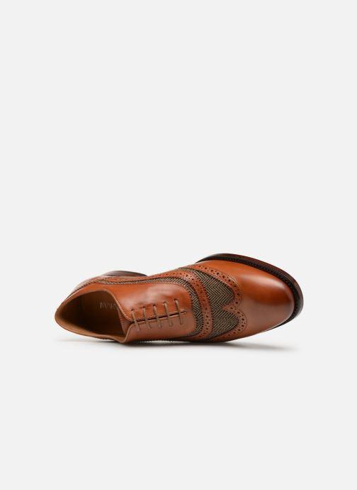 Snörade skor Marvin&Co Luxe Celburg - Cousu Goodyear Brun bild från vänster sidan