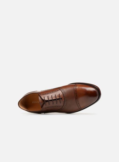 Chaussures à lacets Marvin&Co Luxe Celdrow - Cousu Goodyear Marron vue gauche