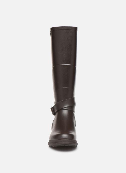 Bottes Aigle Macadames Marron vue portées chaussures