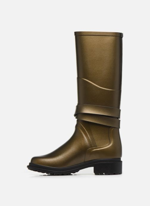 Boots & wellies Aigle Macadames Bronze and Gold front view