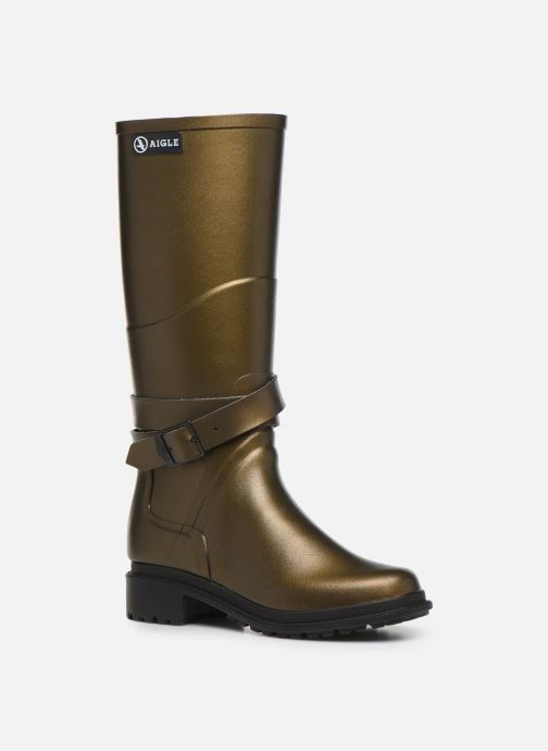 Boots & wellies Aigle Macadames Bronze and Gold detailed view/ Pair view