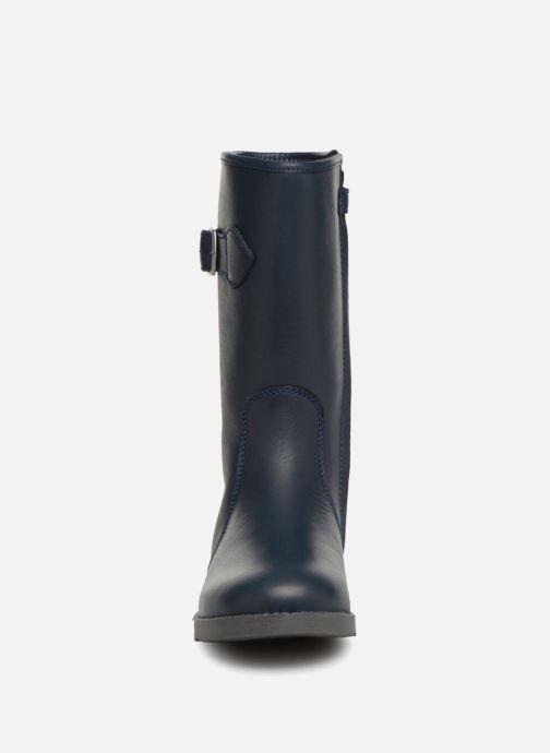 Bottes Aigle Lili Boot Kid Bleu vue portées chaussures