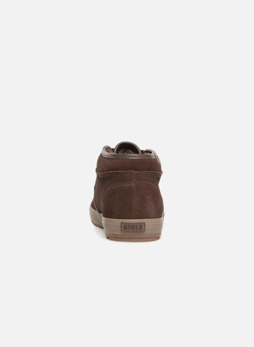 Chaussures à lacets Aigle Althae Cr Fur Marron vue droite