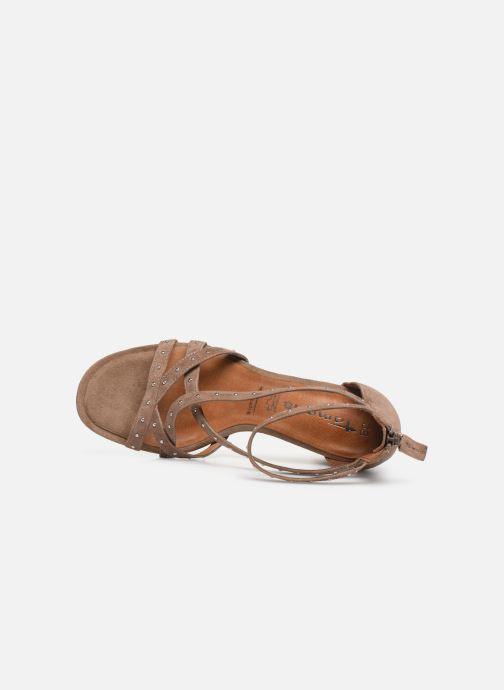 Sandales et nu-pieds Tamaris Abigail Marron vue gauche