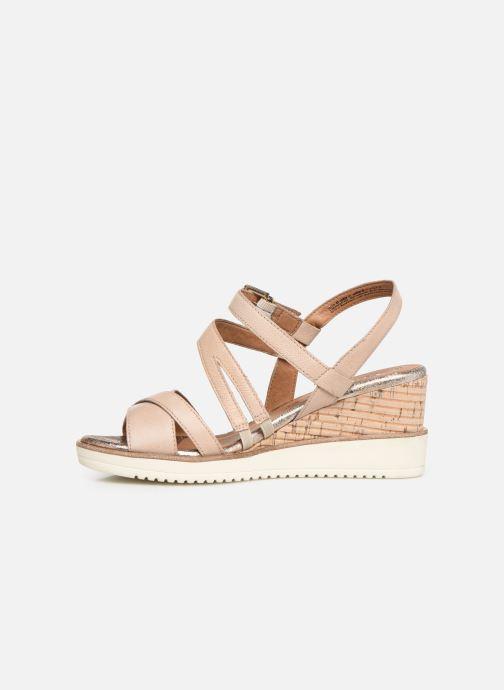 Sandales et nu-pieds Tamaris Bonnie Beige vue face