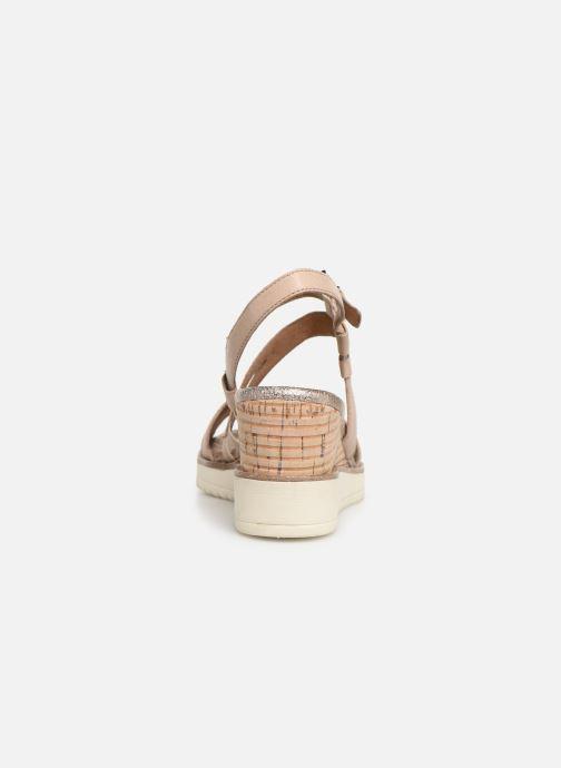Sandales et nu-pieds Tamaris Bonnie Beige vue droite