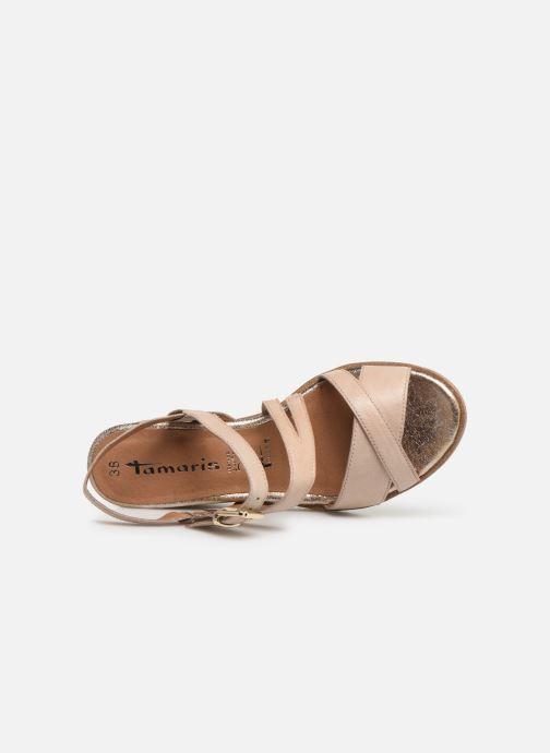 Sandales et nu-pieds Tamaris Bonnie Beige vue gauche