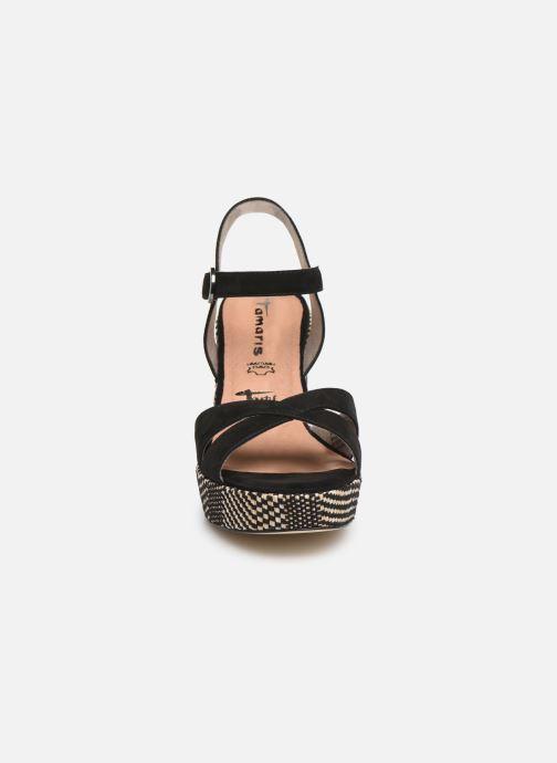 Sandales et nu-pieds Tamaris Carolina Noir vue portées chaussures