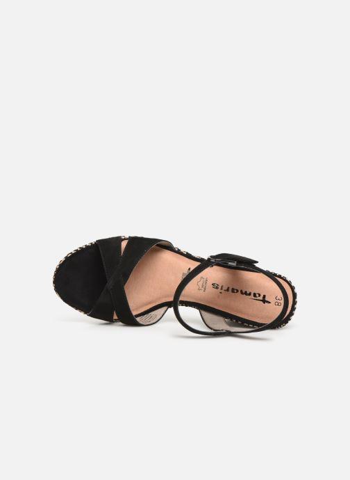 Sandales et nu-pieds Tamaris Carolina Noir vue gauche