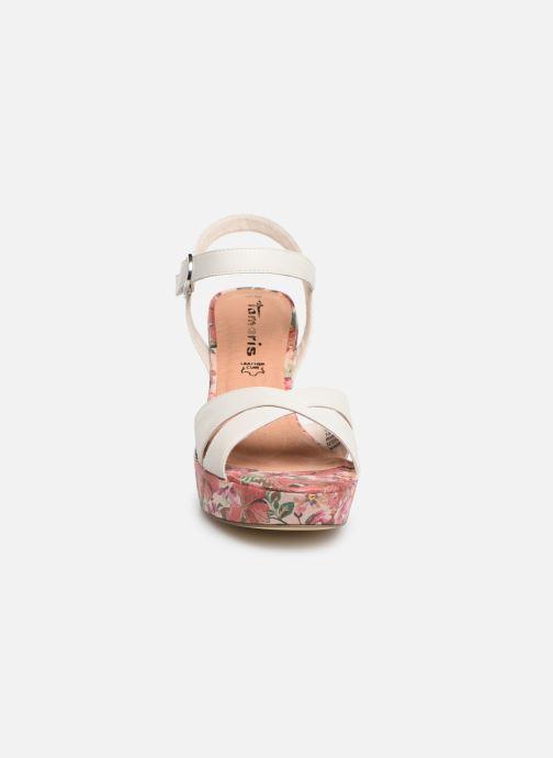Sandales et nu-pieds Tamaris Carolina Blanc vue portées chaussures