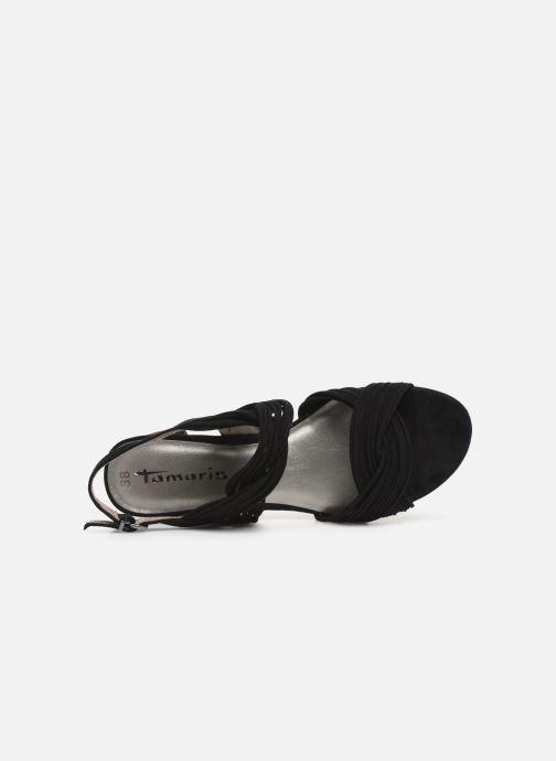 Sandales et nu-pieds Tamaris Chaya Noir vue gauche