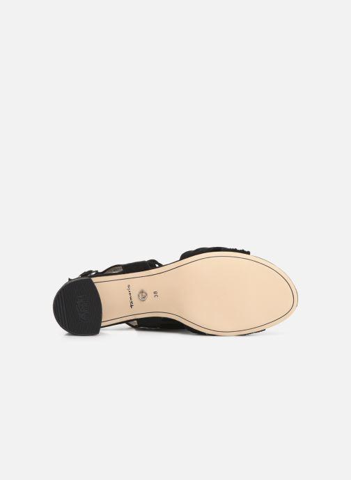 Sandales et nu-pieds Tamaris Chaya Noir vue haut