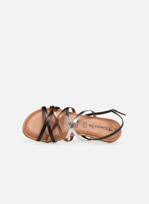 Et pieds Black Comb Nu Sandales Chloe Tamaris ON8ywm0vn