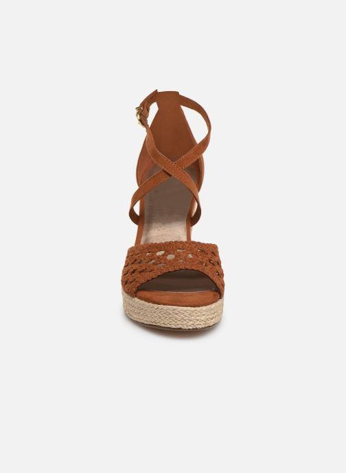 Espadrilles Tamaris Clare Marron vue portées chaussures
