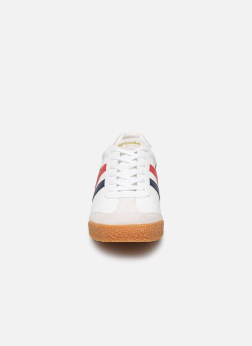Trainers Gola Harrier Leather White model view