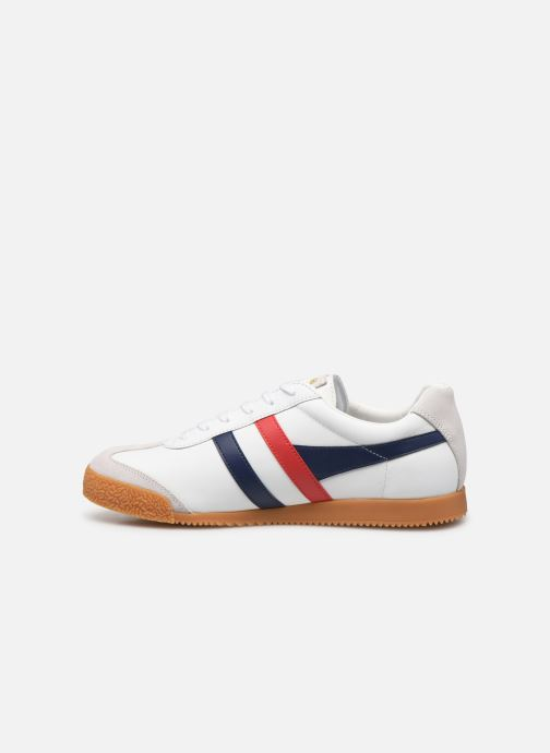 Baskets Gola Harrier Leather Blanc vue face