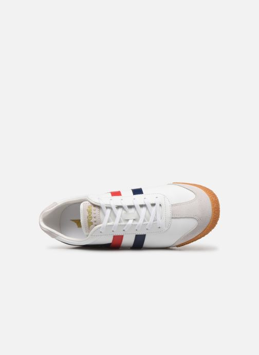 Trainers Gola Harrier Leather White view from the left