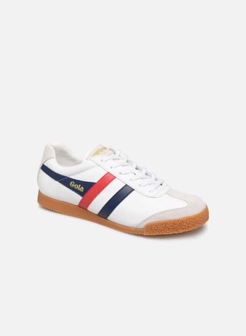 Baskets Gola Harrier Leather Blanc vue détail/paire