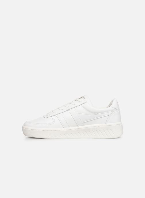 Baskets Gola Grandslam Leather Blanc vue face