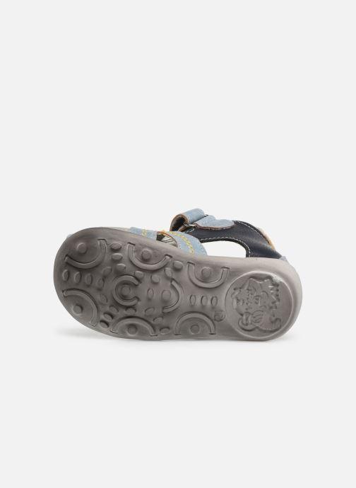 Sandales et nu-pieds NA! Ahoma Bleu vue haut