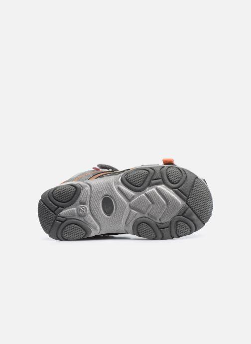 Sandales et nu-pieds NA! Abaco Gris vue haut
