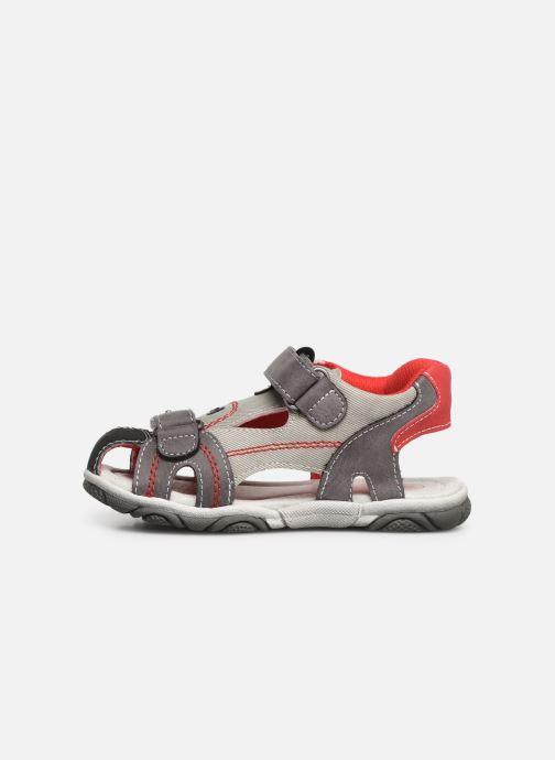 Sandales et nu-pieds NA! Agrid Gris vue face