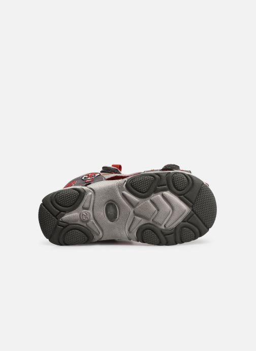 Sandales et nu-pieds NA! Agrid Gris vue haut