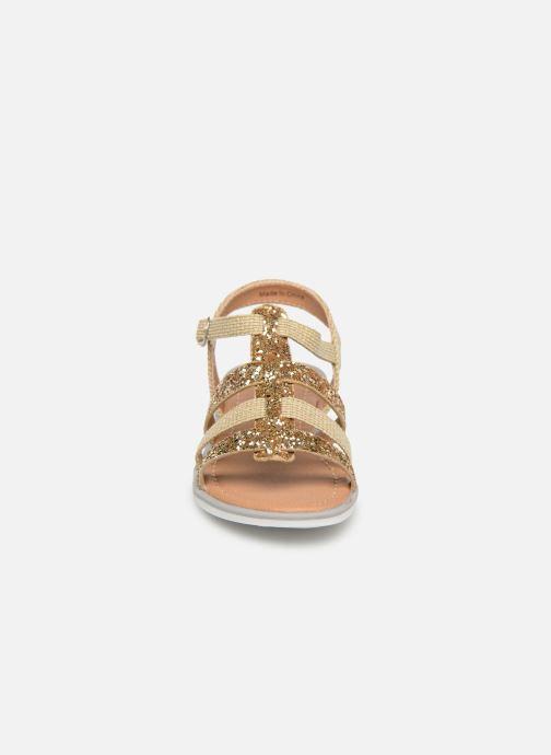 Sandales et nu-pieds NA! Five Or et bronze vue portées chaussures