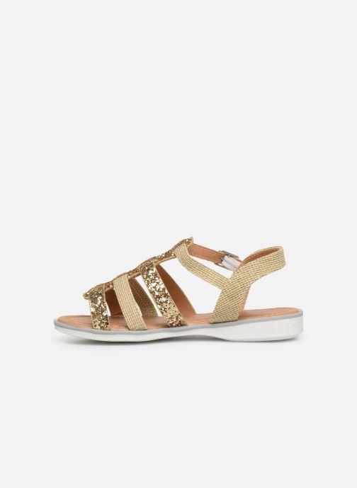 Sandales et nu-pieds NA! Five Or et bronze vue face