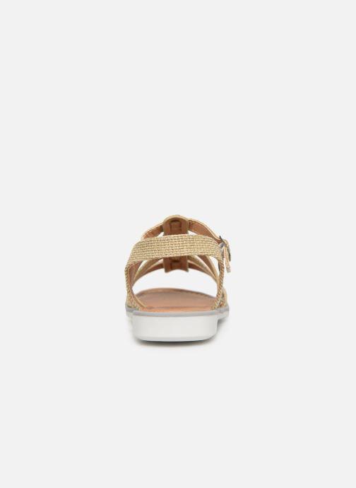 Sandales et nu-pieds NA! Five Or et bronze vue droite